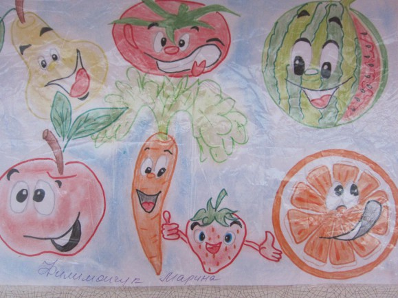 рисунок про здоровое питание